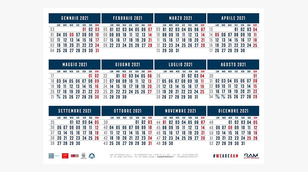 Calendario 2021 RAM Elettronica
